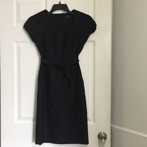 Banana Republic Belted Wool Office Dress 0